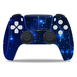 PS5 Controller Skins - CPU / Blauw