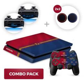 Barcelona Skins Bundel - PS4 Slim Combo Packs