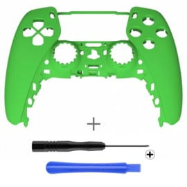 PS5 Controller Behuizing Shell - Groen Soft Touch - Front Shell