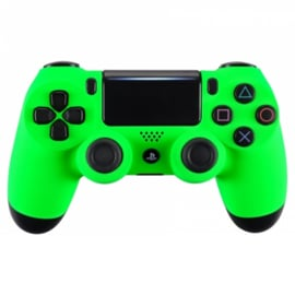 Soft Touch Neon Groen - Custom PS4 Controllers V2