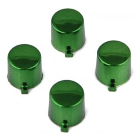 Green Chrome (4 pieces) - PS4 Controller Buttons