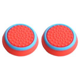 Red with Blue Cirkel - PS4 Thumb Grips
