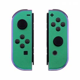 Nintendo Switch Joy-Con Controller Set - Groen / Paars Metallic Custom