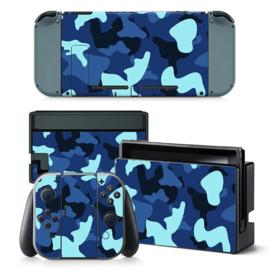 Army Camo Blauw Zwart - Nintendo Switch Skins