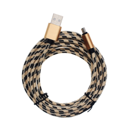 3 Meter Gold with Black - Charging Cable