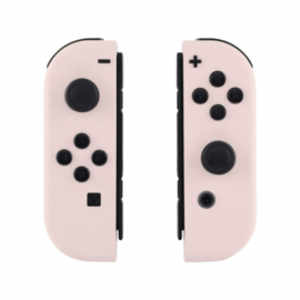 Soft Touch Lichtroze set - Custom Joy-Con Controllers
