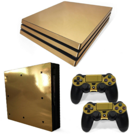 Gold Chrome - PS4 Pro Console Skins