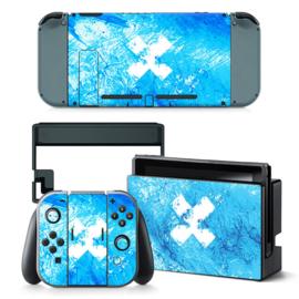 Grunge Hemelsblauw - Nintendo Switch Skins