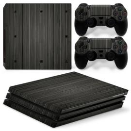 Wood Dark - PS4 Pro Console Skins