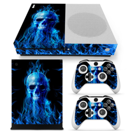 Fire Skull - Xbox One S Console Skins