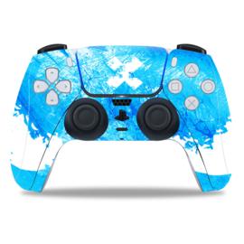 PS5 Controller Skins - Liquid Grunge Blauw / Hemelsblauw