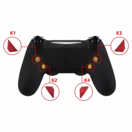 Soft Touch Rood - PS4 eSports Back Buttons