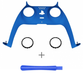 PS5 Controller Behuizing Shell - Blauw Soft Touch - Cover Shell