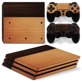 Wood Mix - PS4 Pro Console Skins