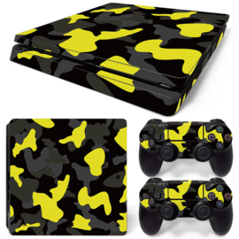 Army Camo Yellow Black - PS4 Slim Console Skins