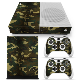 Army Camouflage Flora - Xbox One S Console Skins