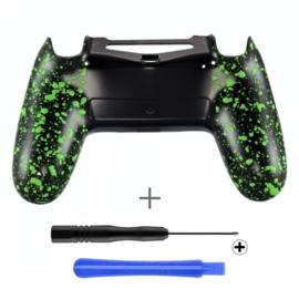 PS4 Controller Behuizing Shell - 3D Grip Groen (GEN 4, 5) - Back Shell