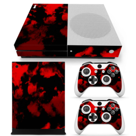 Army Camouflage Red - Xbox One S Console Skins
