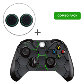 Hex Lime Skins Grips Bundel - Xbox One Controller Combo Packs
