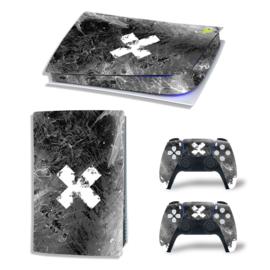 PS5 Console Skins - Liquid Grunge White / Black