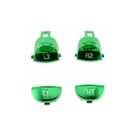 Green Chrome L1 L2 R1 R2 (GEN 4, 5) - PS4 Controller Buttons