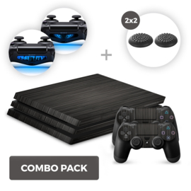 Wood Black Skins Bundle - PS4 Pro Combo Packs
