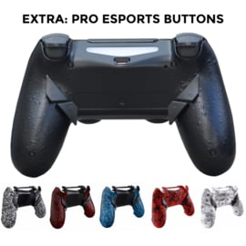 Sony DualShock 4 Controller PS4 V2 - Soft Touch Wit met Rode Spetters Custom