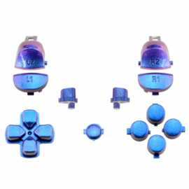 Metallic Chameleon Blue / Purple (GEN 4, 5) - PS4 Controller Buttons