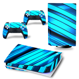 PS5 Console Skins - Metal Twirl Blue