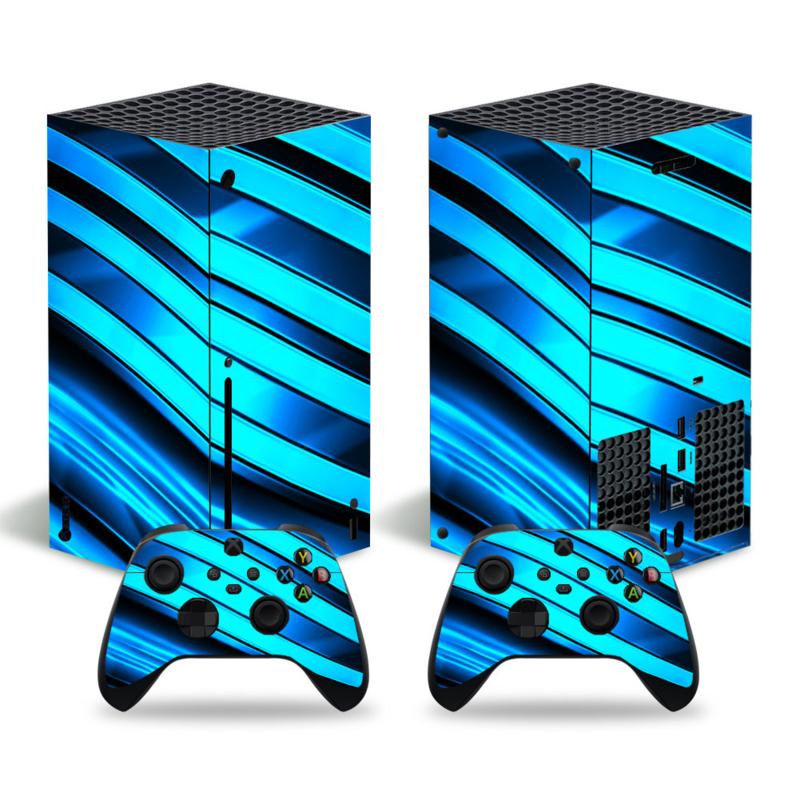 Metal Twirl Blauw - Xbox Series X Console Skins