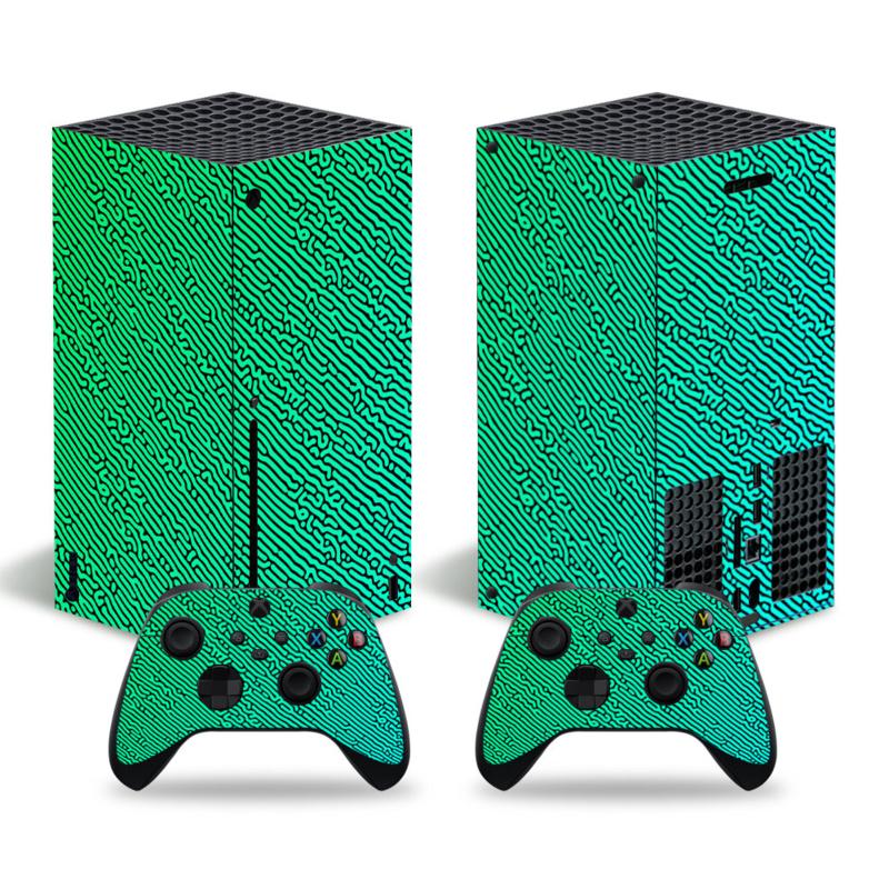 Cool Gradient Groen Blauw - Xbox Series X Console Skins