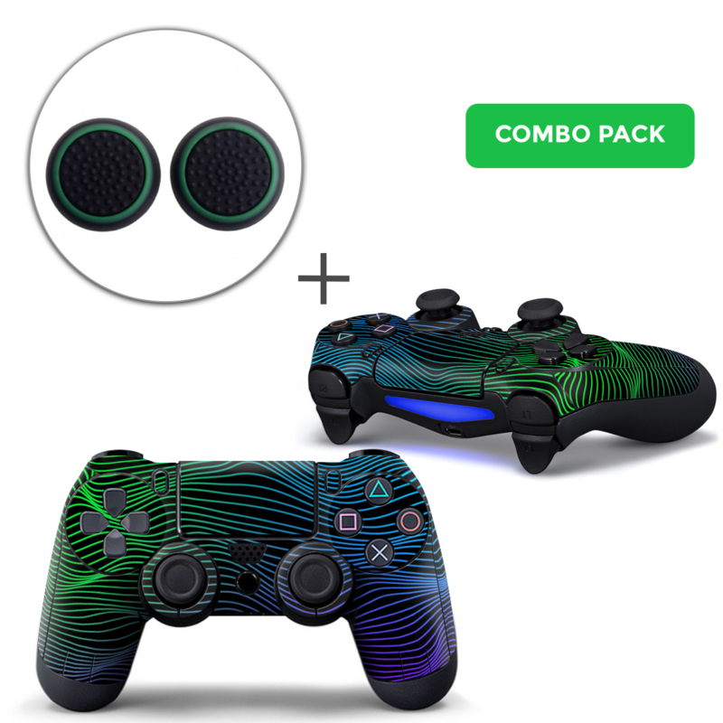 Brainwaves Skins Grips Bundle - PS4 Controller Combo Packs