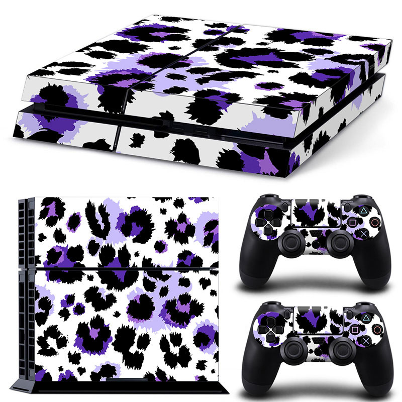 Luipaard Print Paars - PS4 Console Skins