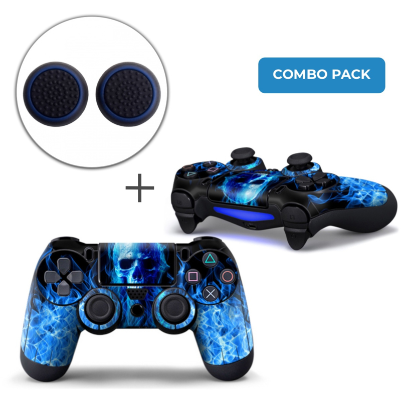 Fire Skull Skins Grips Bundel - PS4 Controller Combo Packs