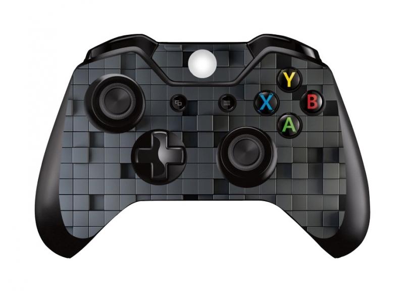3D Cubes Dark - Xbox One Controller Skins