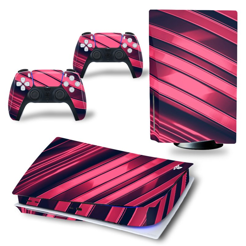 PS5 Console Skins - Metal Twirl Rood / Roze