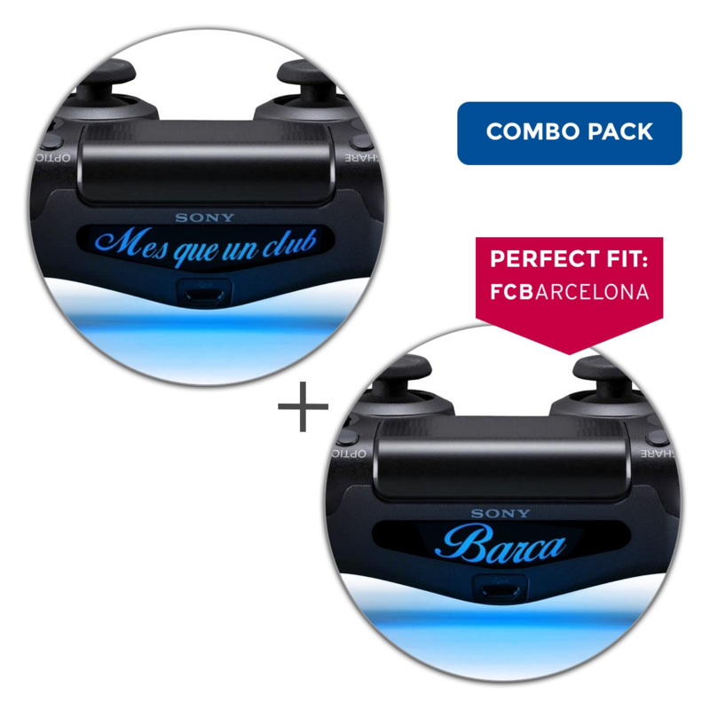 BARCELONA Combo Pack / Mes Que Un Club & Barca - PS4 Lightbar Skins