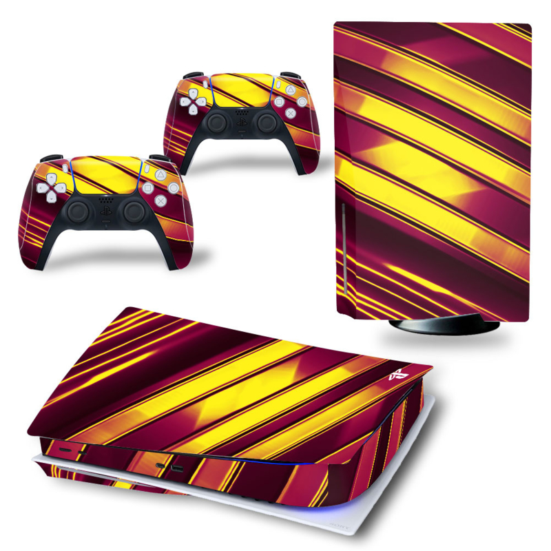 PS5 Console Skins - Metal Twirl Goud / Rood