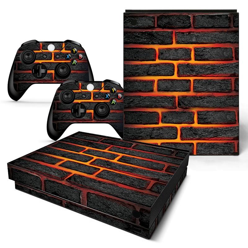Lava Brick - Xbox One X Console Skins