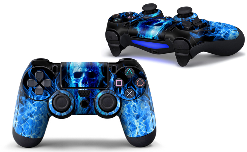 Blue Skull Premium - PS4 Controller Skins