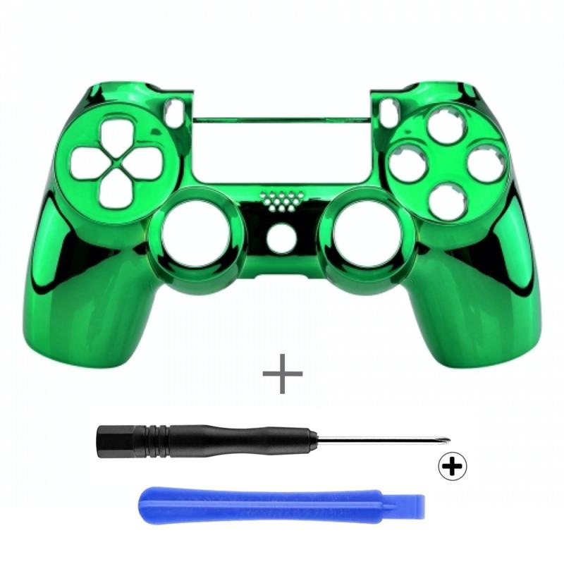 Chrome Green (GEN 4, 5) - PS4 Controller Shells