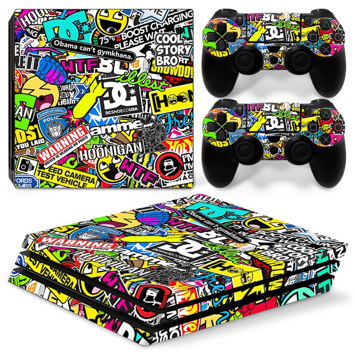 Stickerbomb - PS4 Pro Console Skins