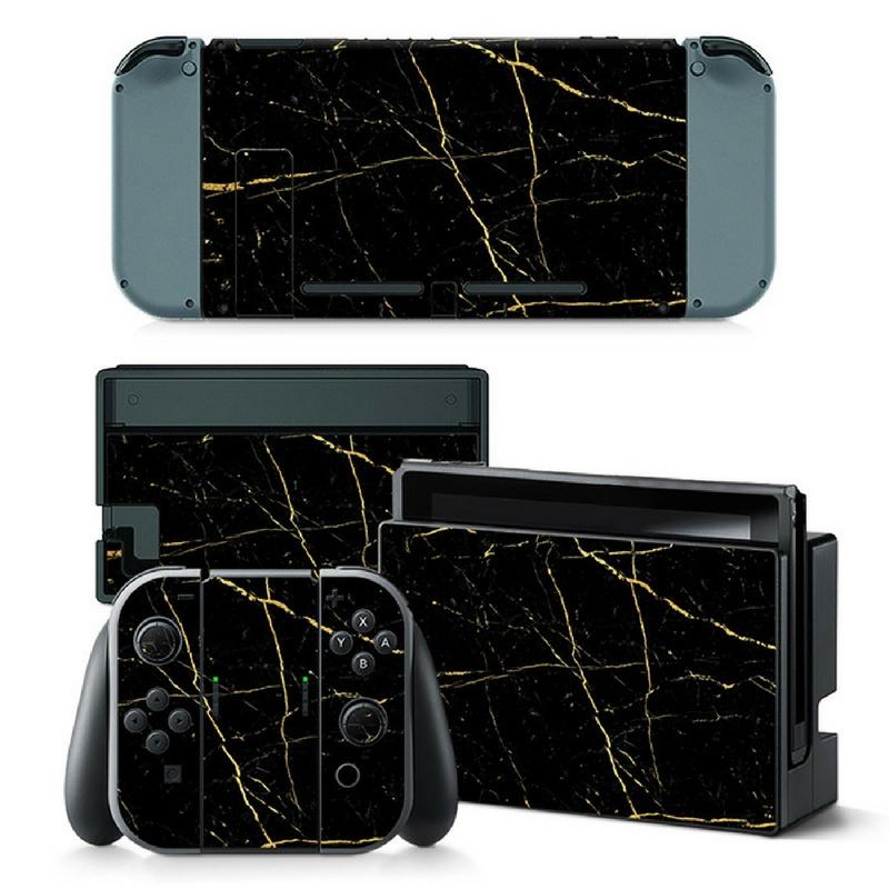 Marmer Goud - Nintendo Switch Skins