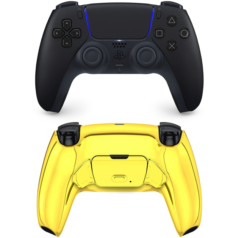 Sony DualSense eSports Controller PS5 - Midnight Black - Goud Chrome Custom