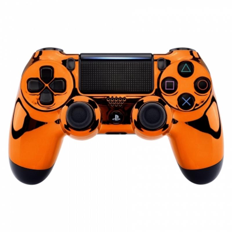 Chrome Oranje - Custom PS4 Controllers V2