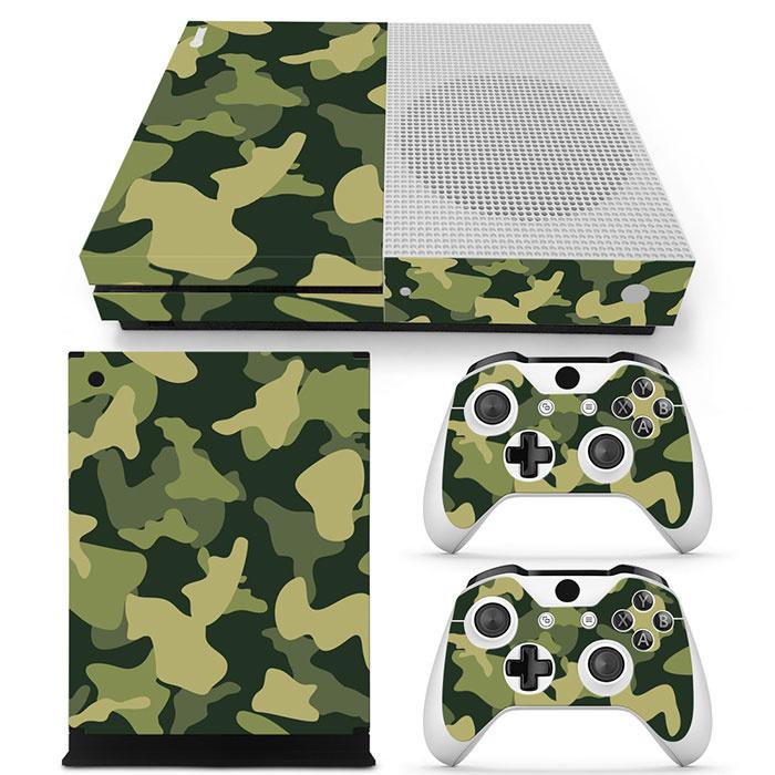 Army Camo Groen Zwart - Xbox One S Console Skins