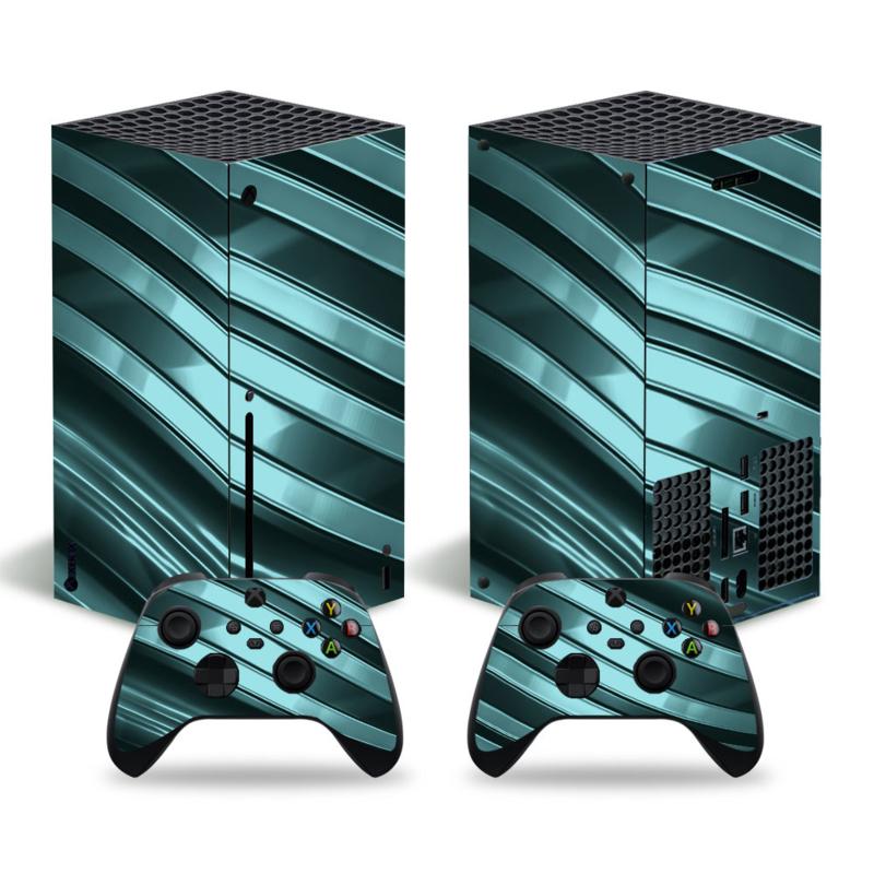 Metal Twirl Grijs Groen - Xbox Series X Console Skins