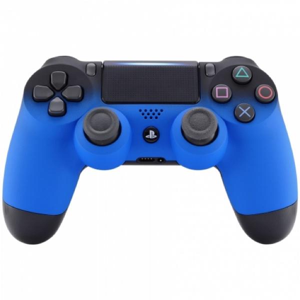 Gradient Soft Touch Zwart / Blauw - Custom PS4 Controllers V2