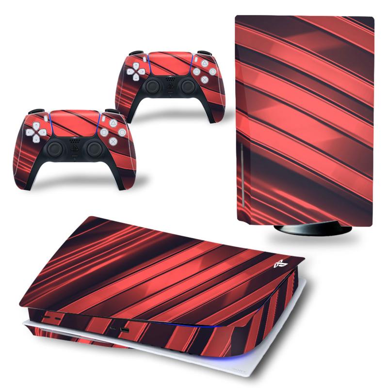 PS5 Console Skins - Metal Twirl Rood / Zwart
