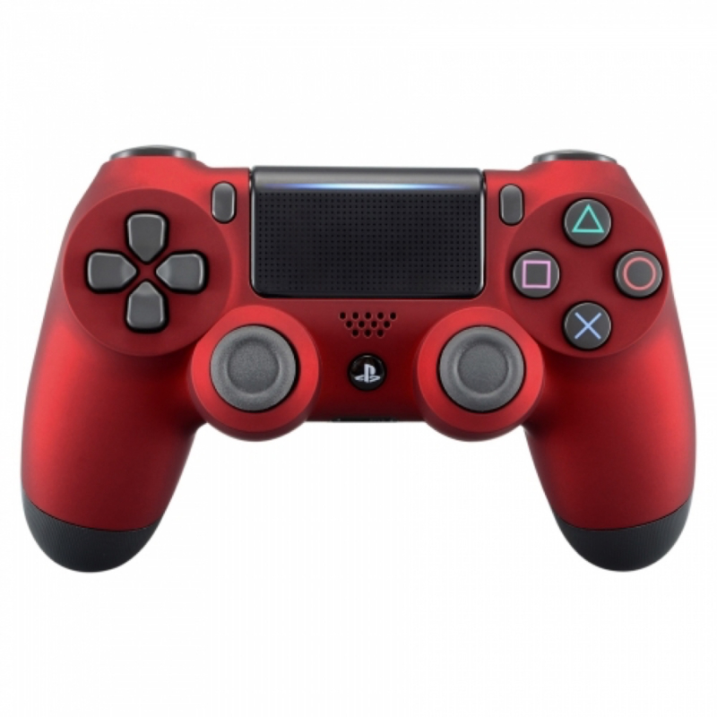 Soft Touch Rood - Custom PS4 Controllers V2